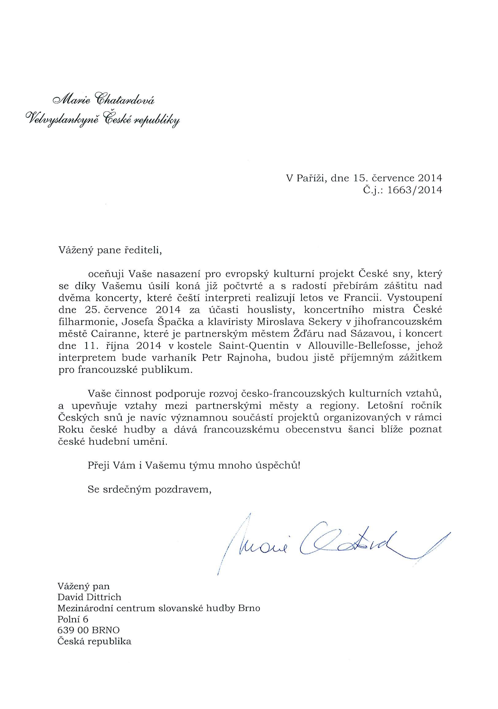 velvyslanec ČR ve Francii
